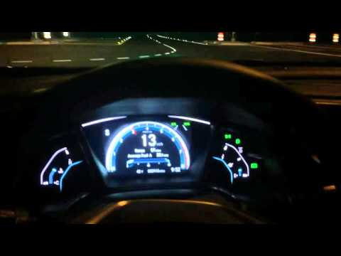 Driving My 2016 Honda Civic Touring at Night (Sport Mode)