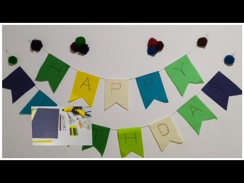 DIY BIRTHDAY BANNER || HOMEMADE