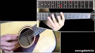 ColdPlay - A sky full of stars SLOW Intro 1/2 (Уроки игры на гитаре Guitarist.kz)