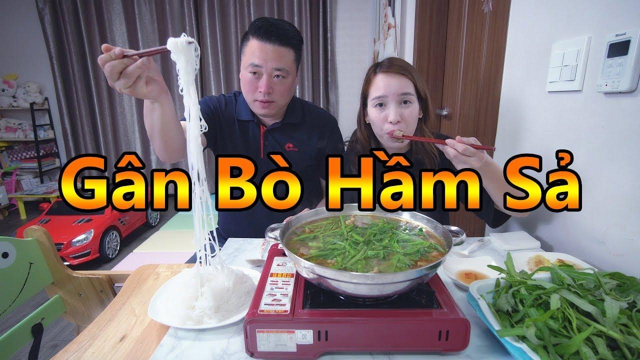Vlog 174 Gân Bò Hầm Sả Nhúng Rau Muống Mồng Tơi [Cuộc Sống Hàn Quốc]
