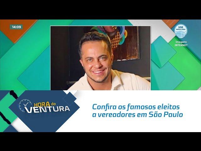Confira os famosos eleitos a vereadores em São Paulo