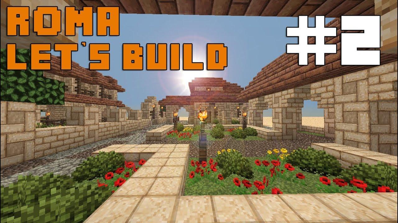 Minecraft Let\'s Build   Roman Settlement #2   Housing + Gardens ...