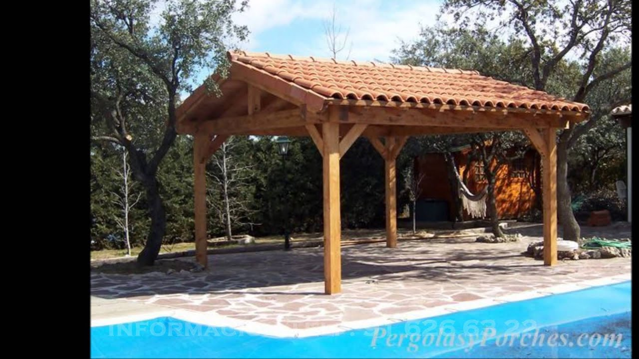 Pergolas porches y cenadores de madera 916266322 youtube - Pergolas y porches ...