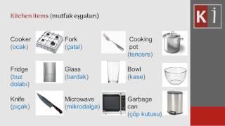 KITCHEN ITEMS (Mutfak eşyaları) Lesson (ders) 12