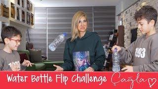 Çağla | Water Bottle Flip Challenge | Anne-Çocuk Video