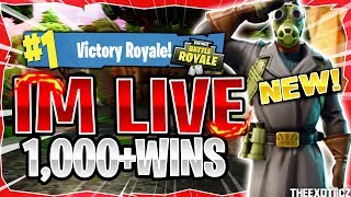 NEW* SKY STALKER SKIN! TOP PS4 SOLO PLAYER! | 1,020+ SOLO WINS | Fortnite Battle Royale LIVE