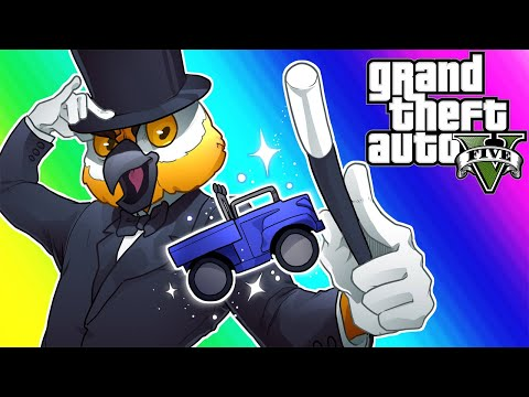 GTA5 Online Funny Moments - 1 VS 1 with Delirious and Flying Truck Glitch!