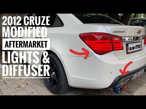 Chevrolet Cruze Modified | Diffuser In Cruze | Aftermarket Lights For Cruze | Heavy Music In Cruze