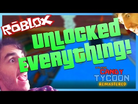 UNLOCKING EVERYTHING | 2 Player Candy Tycoon *REMASTERED* | ROBLOX