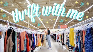 COME THRIFT WITH ME FOR BACK TO SCHOOL OUTFITS | SUCCESSFUL thrift store try on haul !