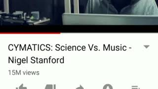Ace reaction: CYMATICS: Science Vs. Music - Nigel StanFord
