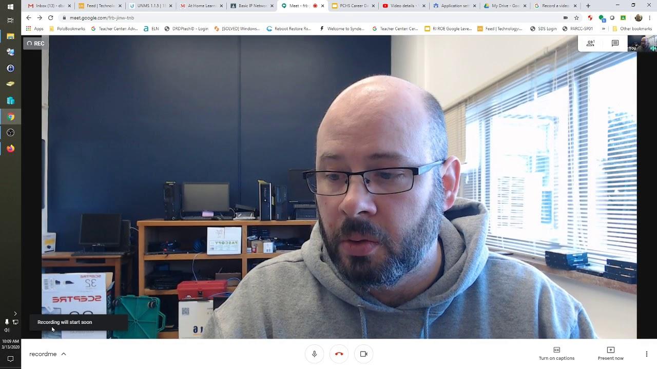 Recording Classroom Sessions using Google Meet