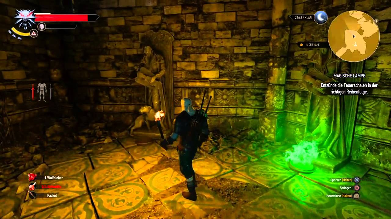 The Witcher 3 - Magic Lamp Quest Combination - YouTube
