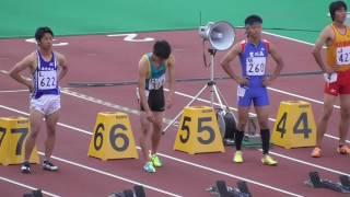愛知県高校総体 男子100m 決勝 2016/5/21