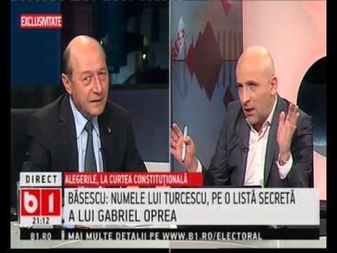 Preşedintele PMP, Traian Băsescu, la emisiunea X Press (B1 TV)