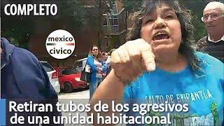 Retiran tubos de agresivos de Unidad Habitacional y los vuleven a poner   Poder Anti Gandalla