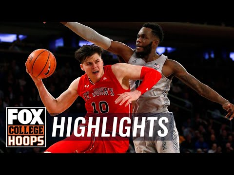 St. John's vs Georgetown | 2018 Big East Tournament | Highlights | FOX COLLEGE HOOPS