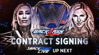WWE BACKLASH 2018: CARMELLA VS CHARLOTTE  FLAIR (SmackDown Women's Championship)