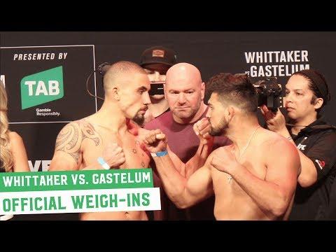 Robert Whittaker vs. Kelvin Gastelum   UFC 234 Official Weigh-Ins