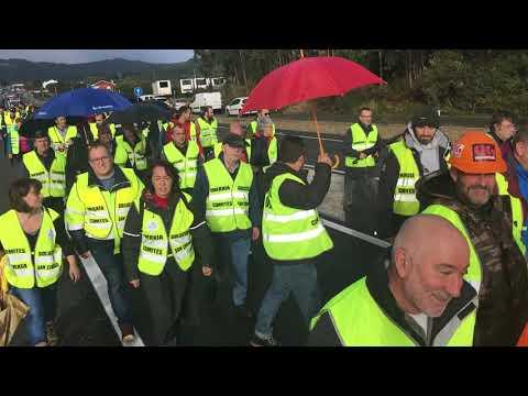 Los trabajadores de Alcoa en San Cibrao se movilizan