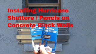DIY / How to install hurricane shutters/panels over your windows...