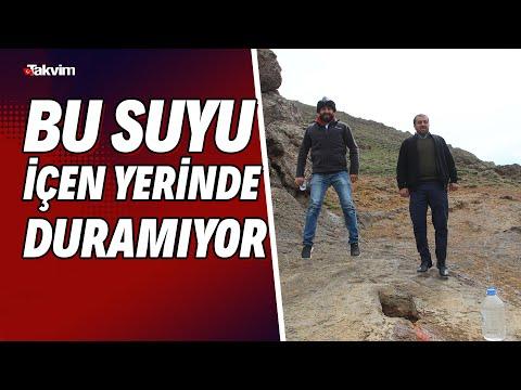Erzurum'da zıplatan su! İçenler zıp zıp zıplıyor