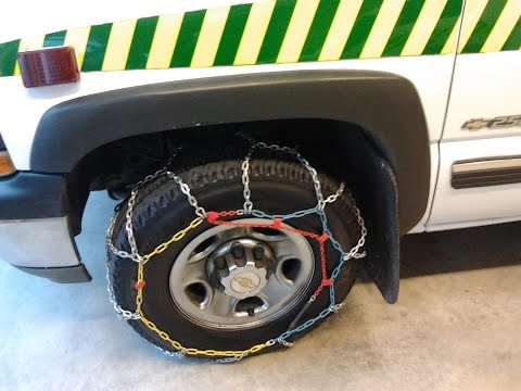 How to Fit Snow Chains in Under 60 seconds! - DIY