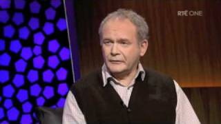 Martin McGuinness on the Late Late Show GOOD QUALITY Part 1
