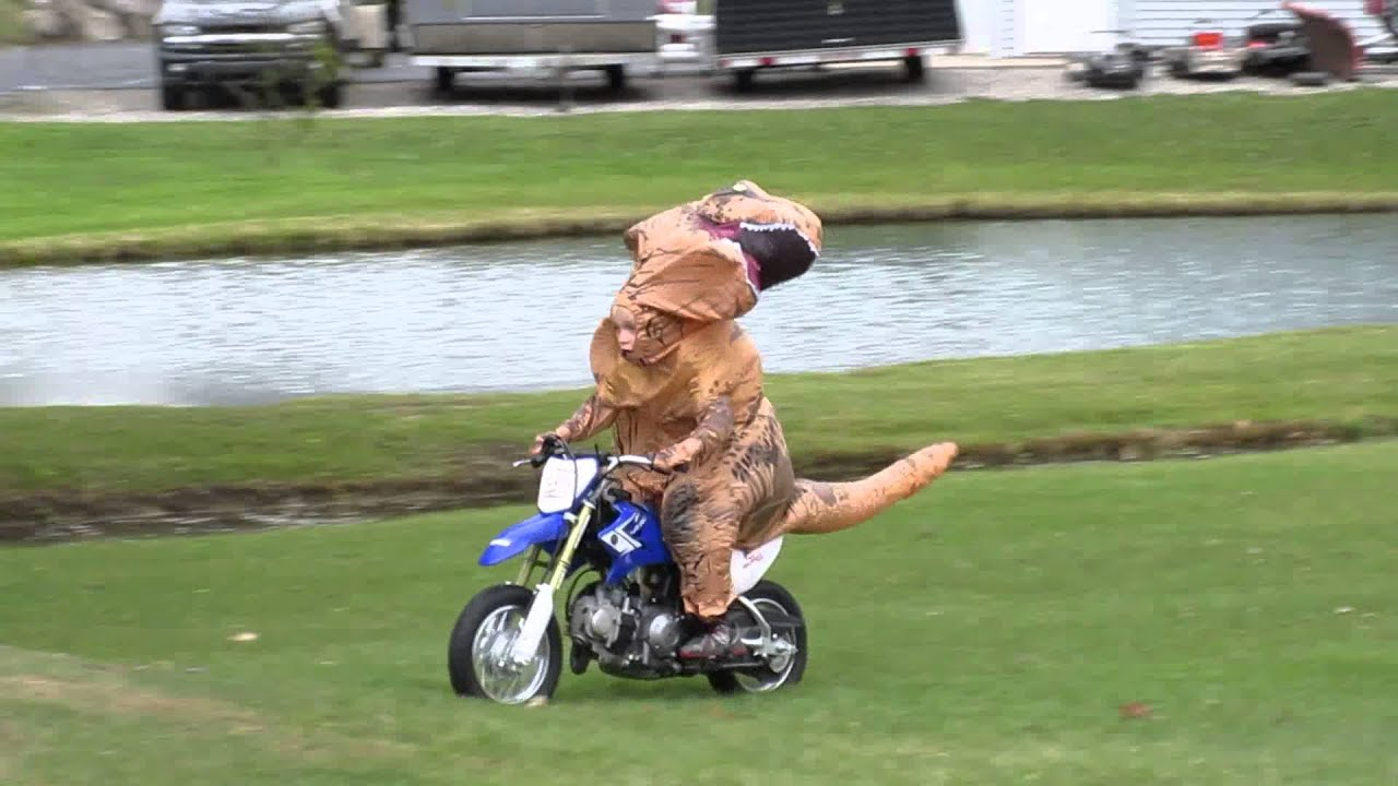 maxresdefault ryan riding his ttr50 dirt bike in a jurassic park t rex