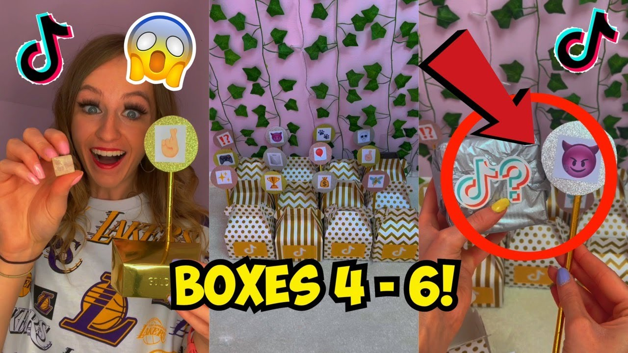 [ASMR] OPENING GOLDEN TIKTOK MYSTERY BOXES!!😱✨(Boxes 4-6!)🤭TikTok Compilation | Rhia Official♡
