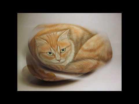 Come dipingere un gatto su sasso  YouTube