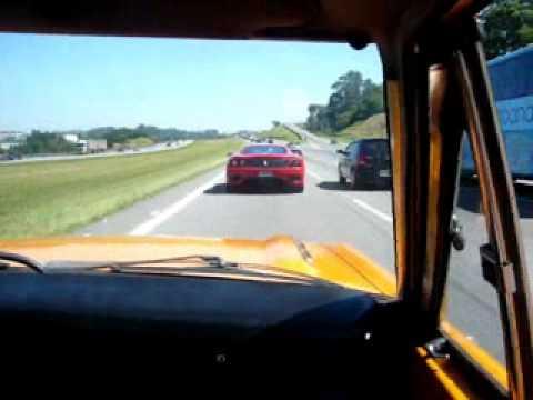 Dodge Charger Nitro vs. Ferrari 360 Modena [ONBOARD DODGE]