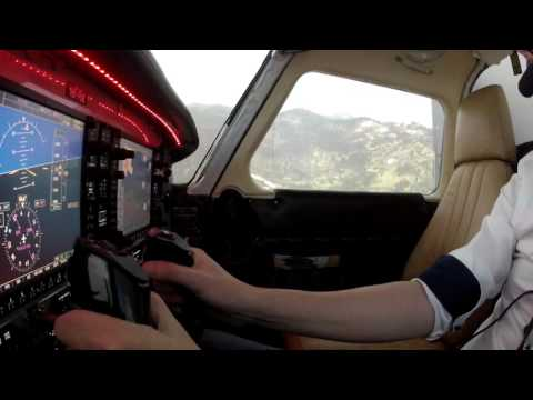Papua New Guinea flight in home cockpit with G1000 and 270 degrees visual