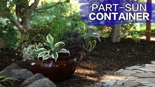 Part Sun Container // Garden Answer