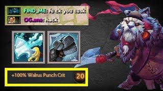 One Shot Tidebringer + Punch [ + %100 Punch Crit ] | Dota 2 Ability Draft