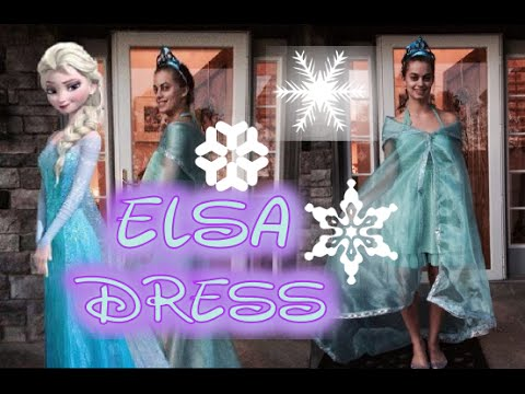 FROZEN easy DIY no sew Elsa dress tutorial. - YouTube