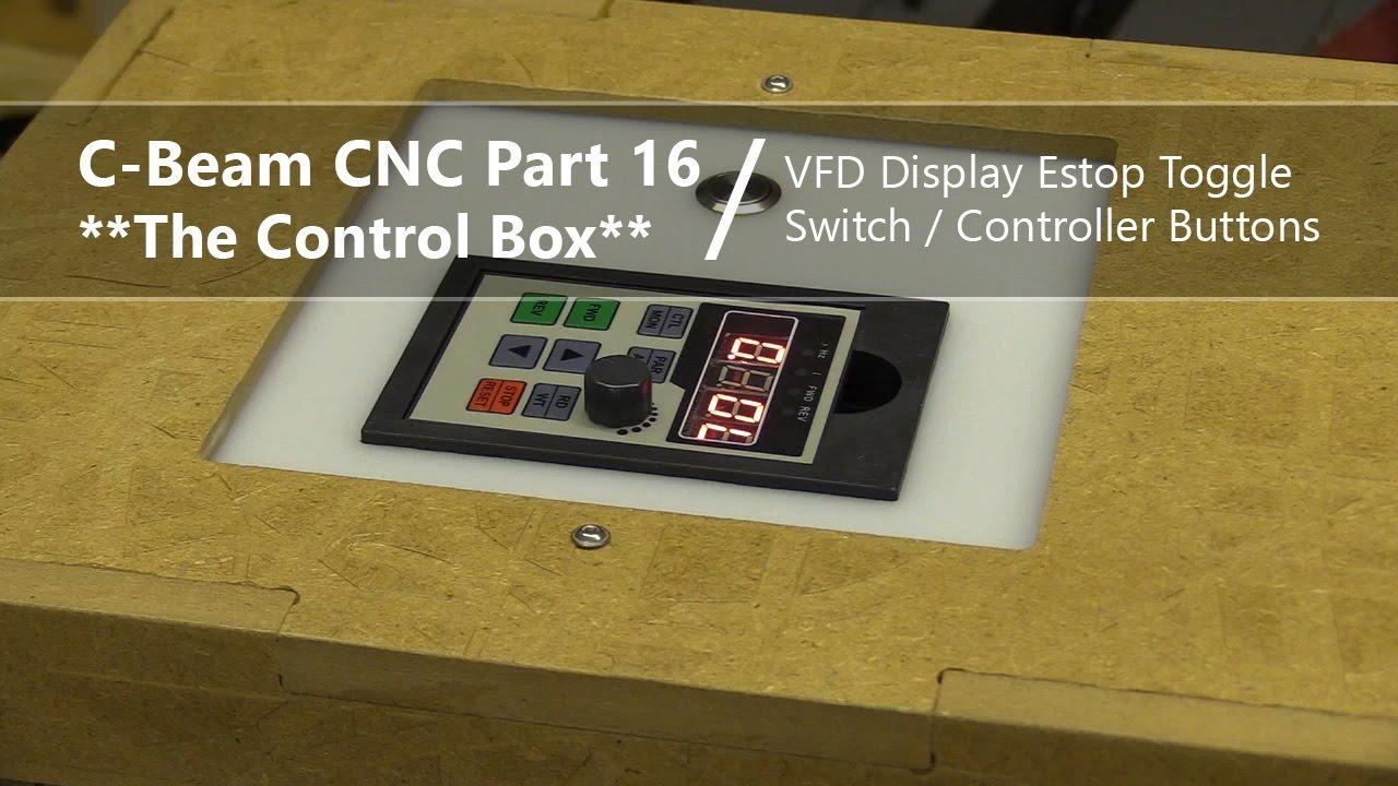 16 extending vfd display pwm toggle switch estop controller buttons 16 cnc control box [ 1280 x 720 Pixel ]