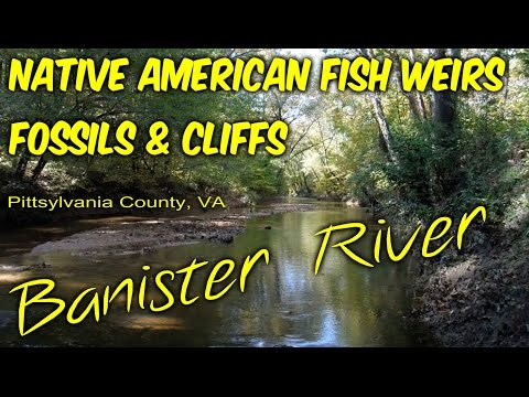 Native American Fish Weirs, Fossils, And Cliffs On The Banister River In Southern Virginia