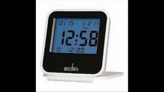 Ora White Lcd Travel Alarm Clock 7cm