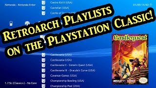 How to create Playlists in Retroarch on the Playstation Classic (Tutorial)