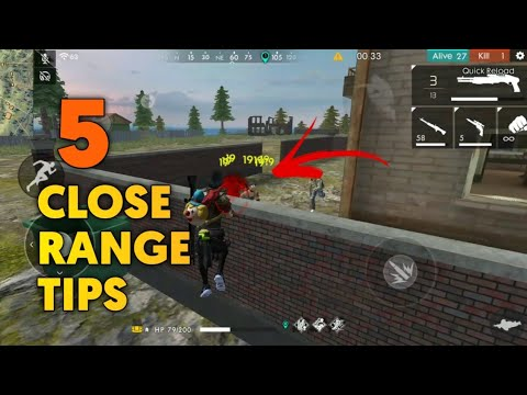 FREE FIRE | TOP 5 CLOSE RANGE TIPS !!! | TOP 5 PRO PLAYER TIPS FREE FIRE !!!