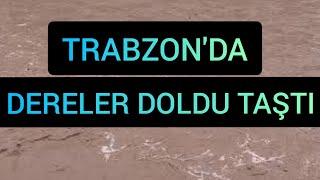 Trabzon da Yağmur Sonrası Sel