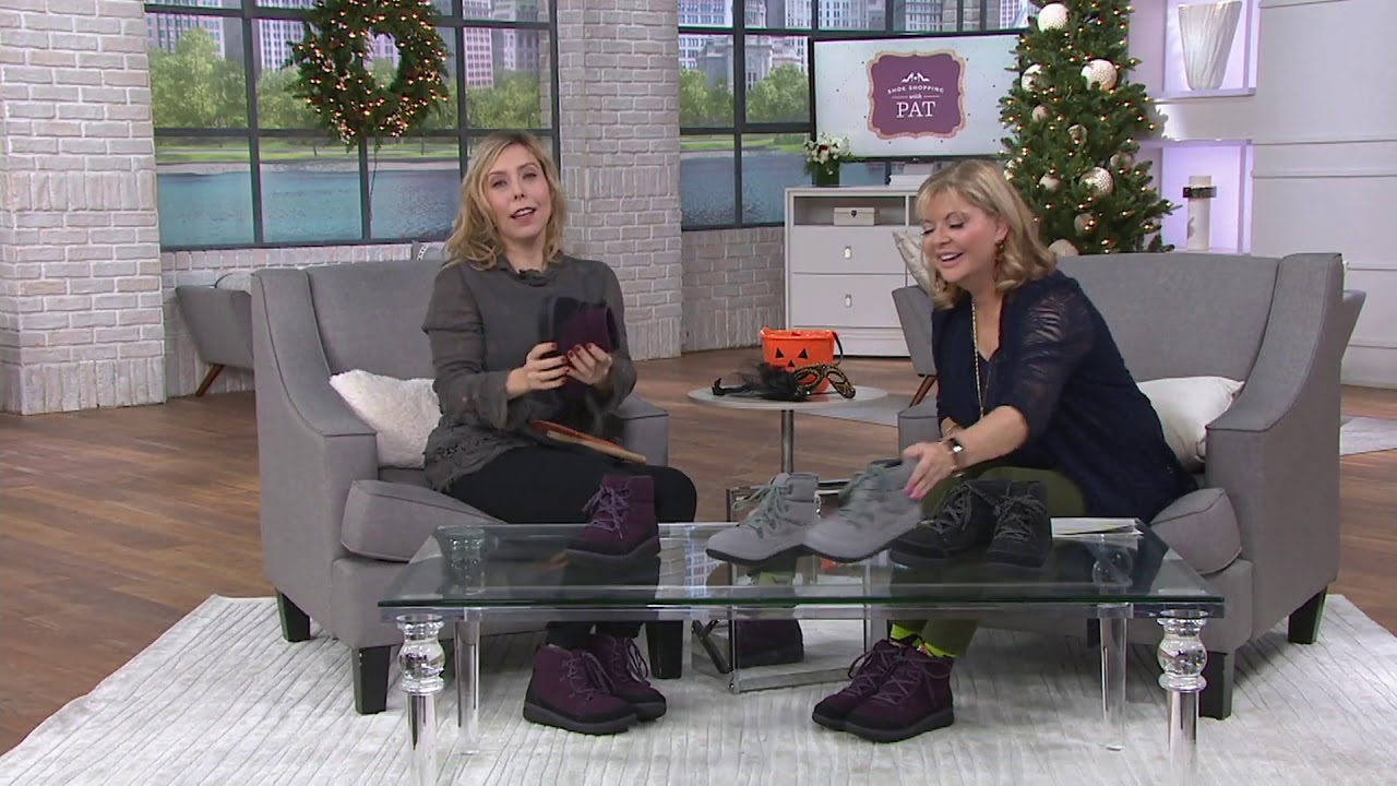 9c1c8f7fcc85 CLOUDSTEPPERS by Clarks Lace-up Boots - Cabrini Cove on QVC - YouTube