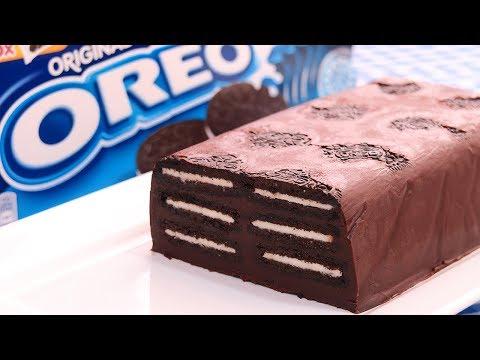 Tarta de Galletas Oreo y Chocolate sin Horno