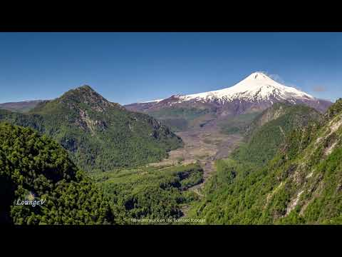 4K Drone Mountains Volcano Chile Stock Footage Royalty Free Clip 17