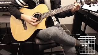 Desperate Man - Eric Church Guitar Cover for Beginner Stroke by [Musicdrawing] Video