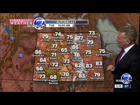 Warming up across Colorado