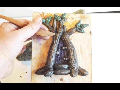 DIY Tree Fairy Door In Polymer Clay Tutorial