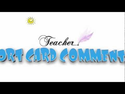 REPORT CARD COMMENTS On YouTube