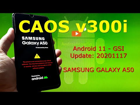 CAOS v300i Android 11 for Samsung Galaxy A50 Update: 20201117